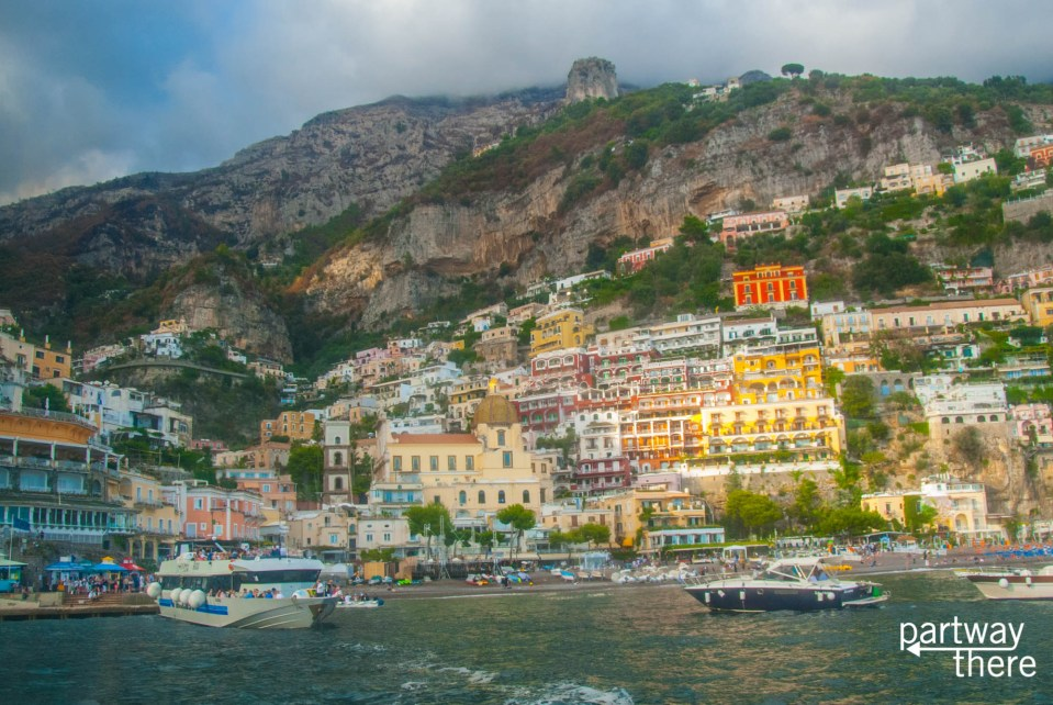 Positano as seen from the water