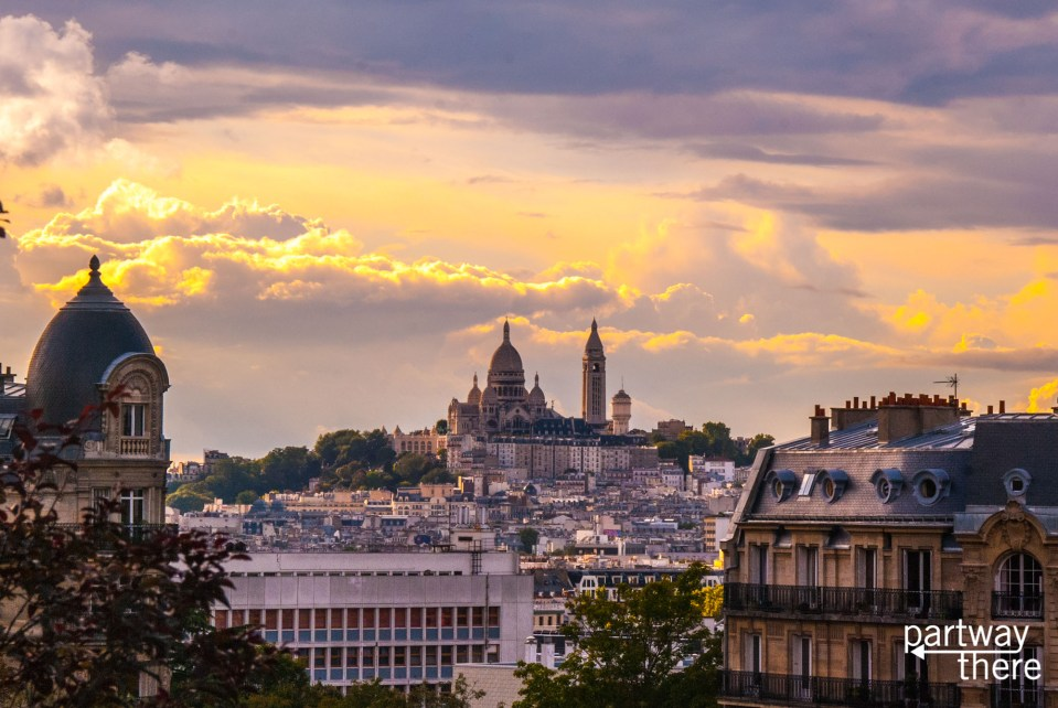 The Sacre-Coeur in Paris, from Parc Buttes-Chamont