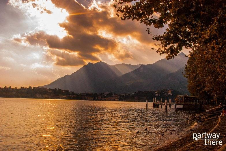 Sunset over Lake Como, Italy