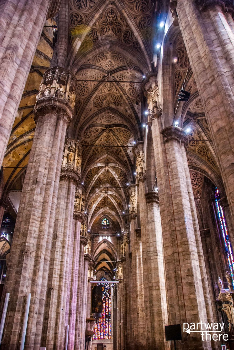 Inside the Duomo in Milan, Italy