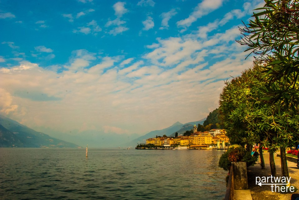 view from lake como water taxi