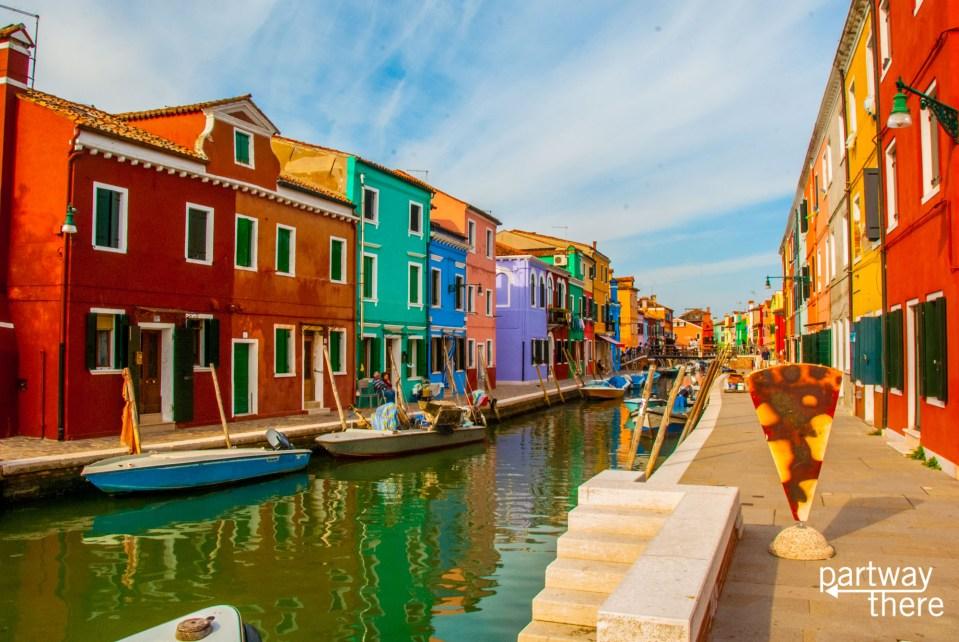 The island of Burano, in Venice