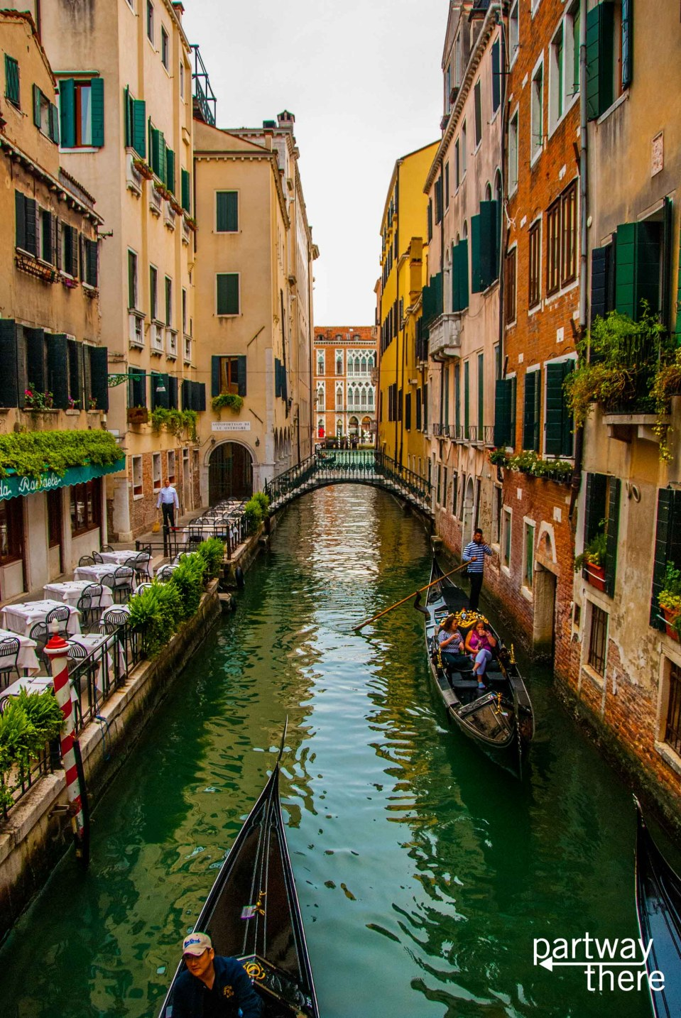 Canal in Venice with gondola