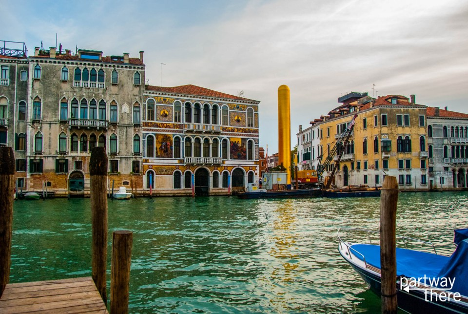 A view of Venice across the canal
