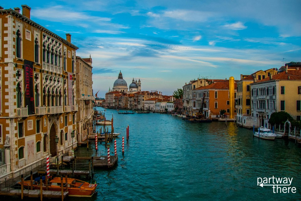 View of Grand Canal in Venice