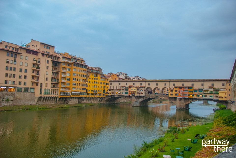 The river in Florence, Italy