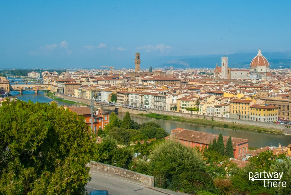 View of Florence, Italy from Piazza Michelangelo