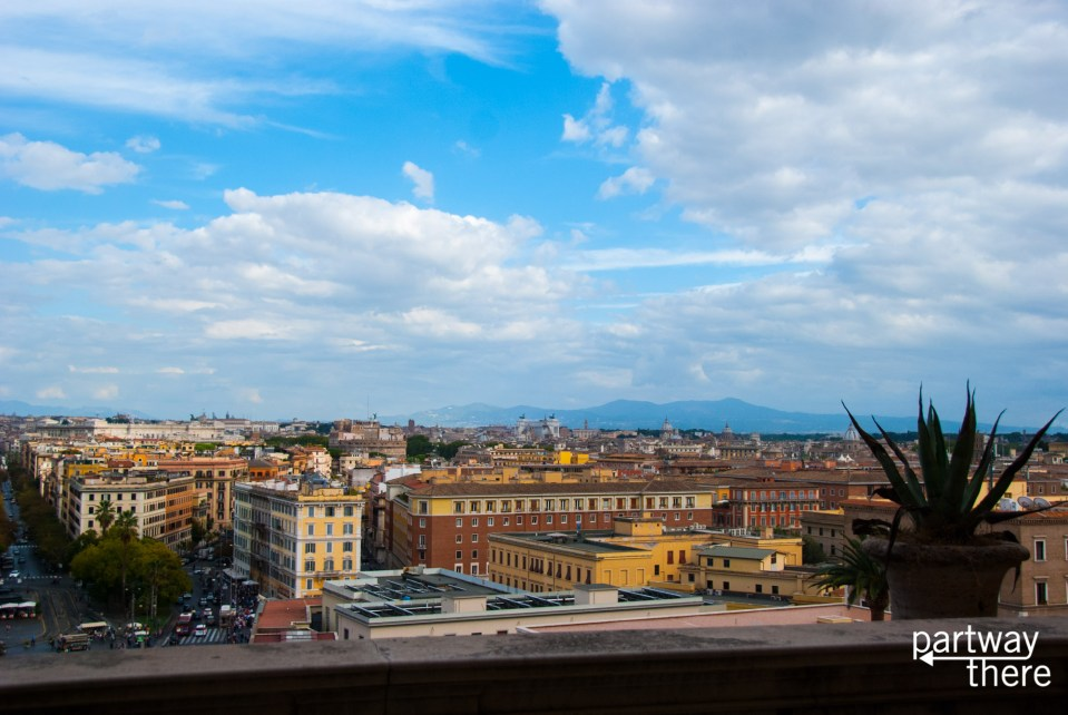 A view of Rome from the Vatican Museums