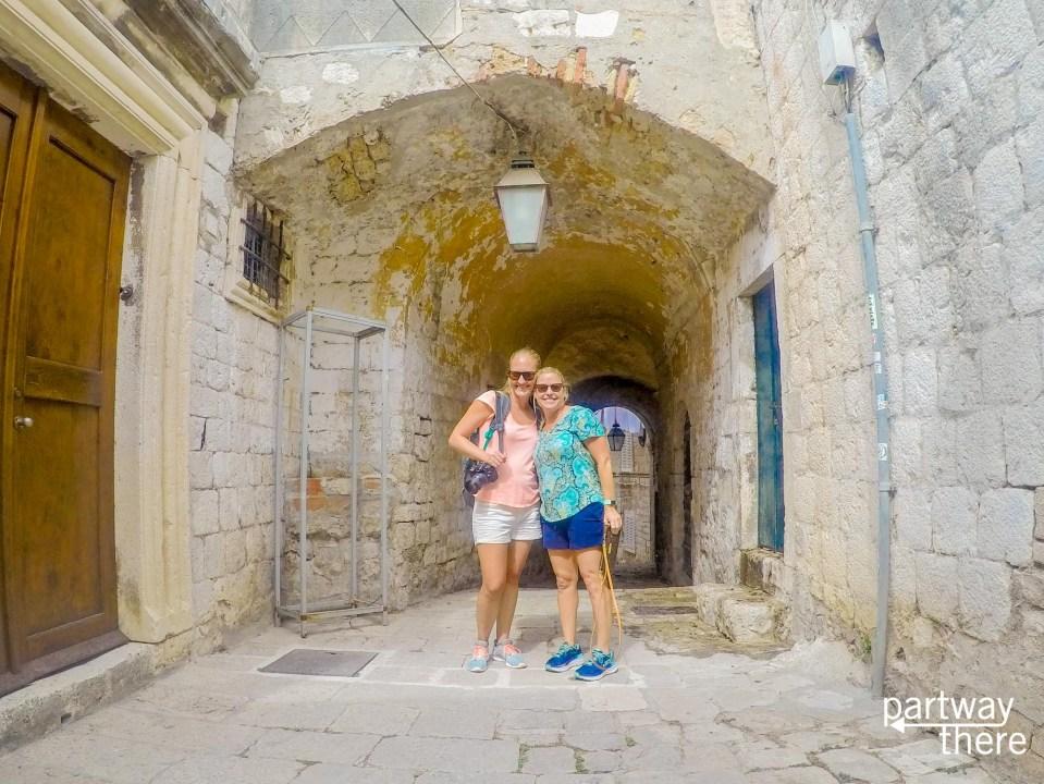 Amanda Plewes and Holly Schiavo in Dubrovnik, Croatia