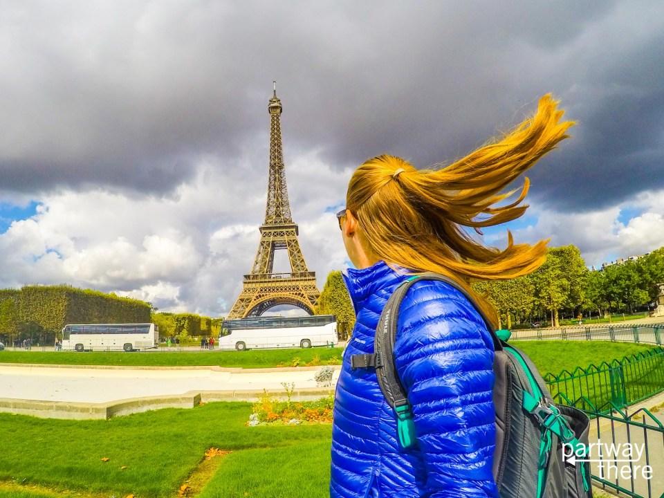 Amanda Plewes at the Eiffel Tower
