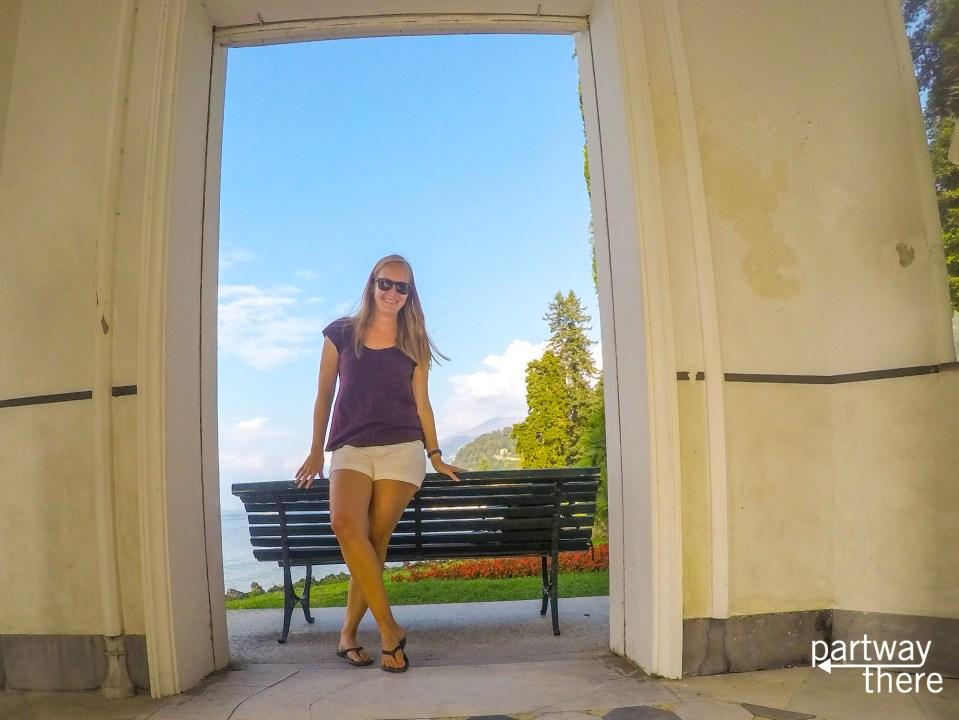 Amanda Plewes at Melzi Gardens in Bellagio, Italy