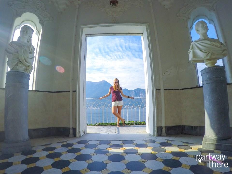 Amanda Plewes at villa Melzi