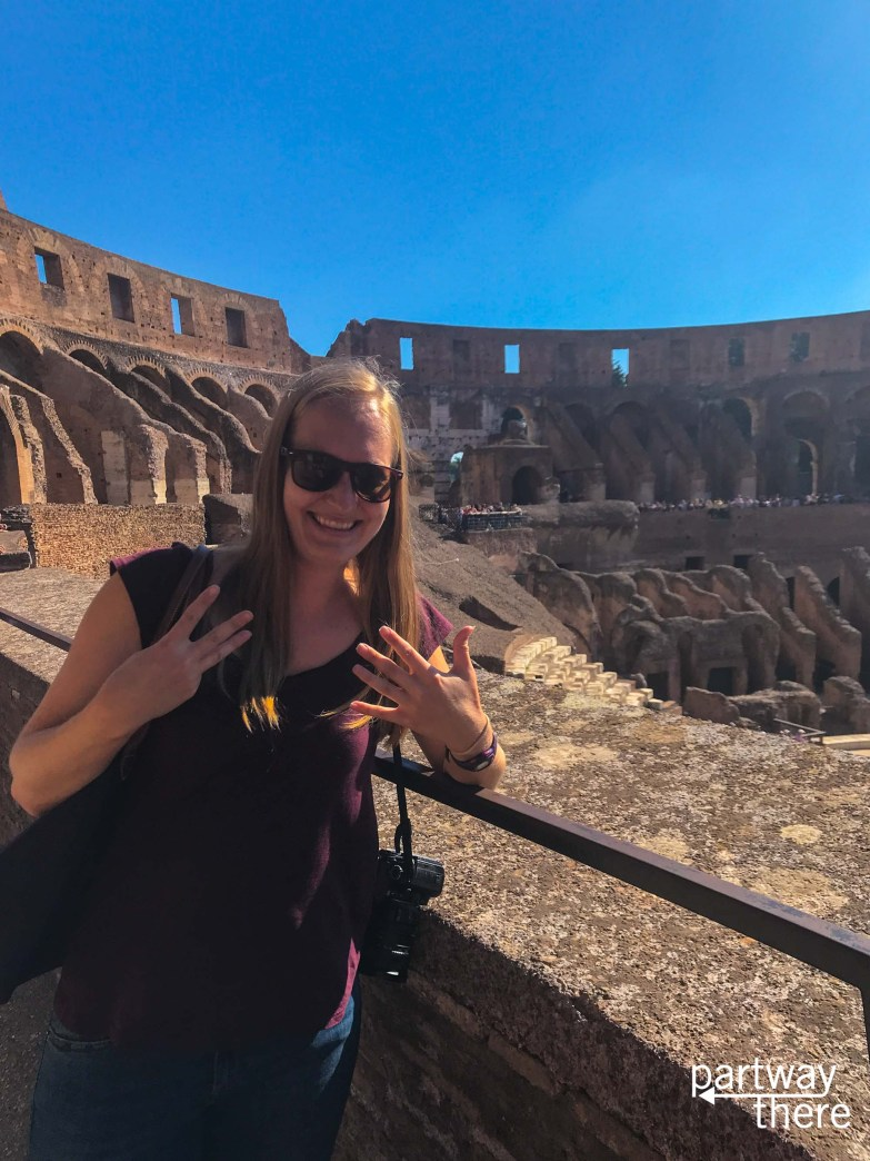 Amanda Plewes at her eighth wonder of the world