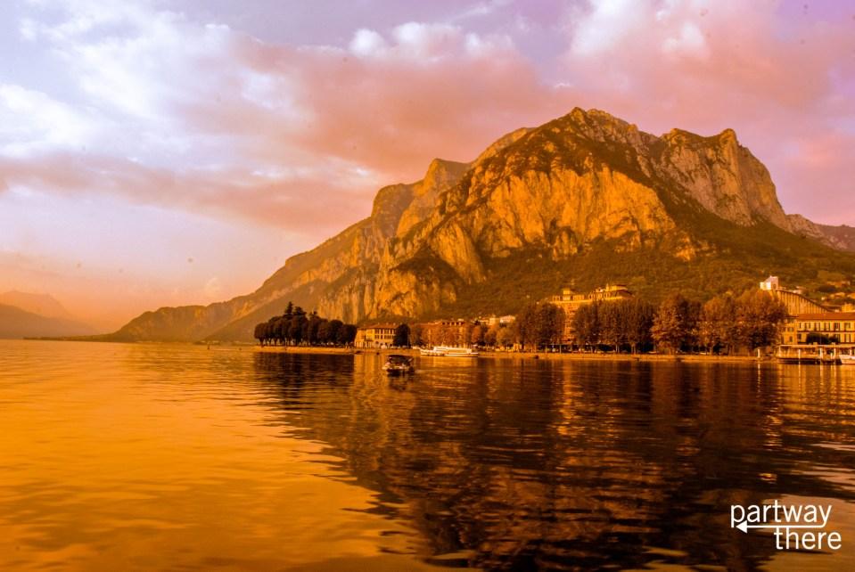 sunset over Lecco, Lake Como