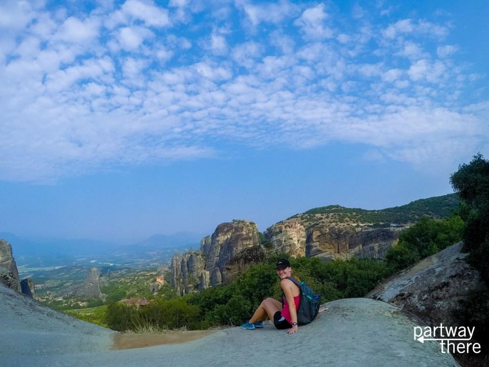 Amanda Plewes in Meteora, Greece