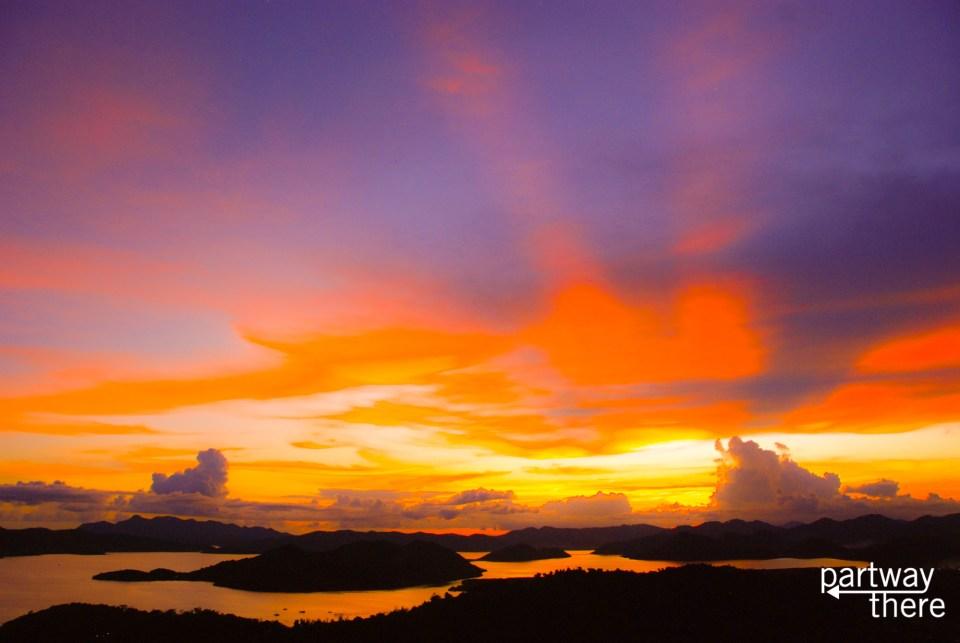 Coron, Philippines at sunset