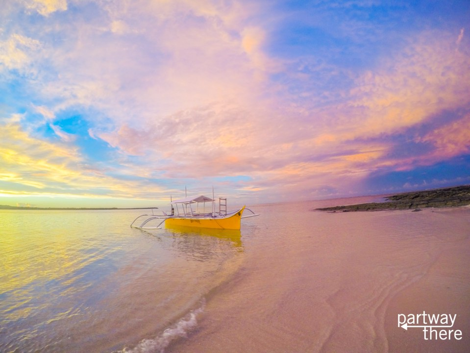 beach at sunset in Siargao, Philippines