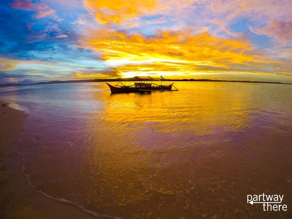 Rental boat on Siargao