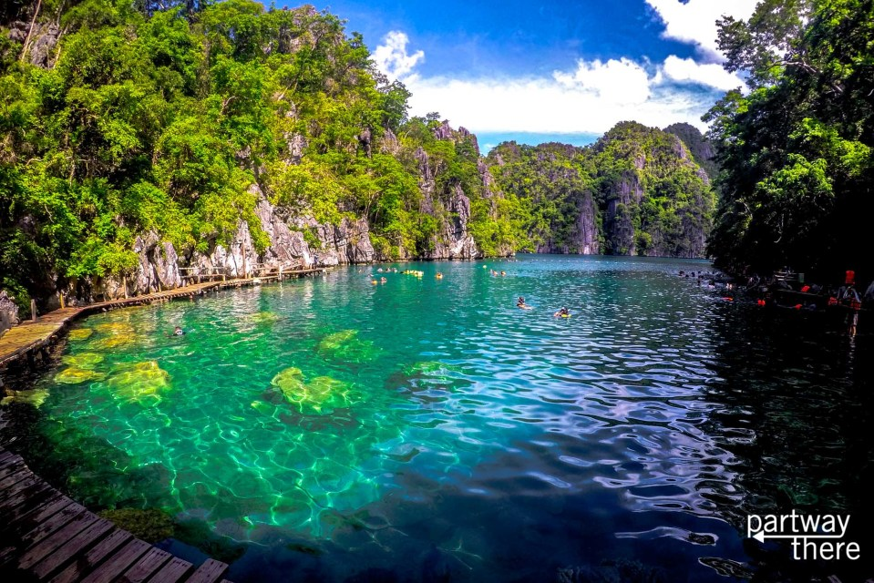 Kayangan Lake in Coron, Philippines - not on the fireflies tour!
