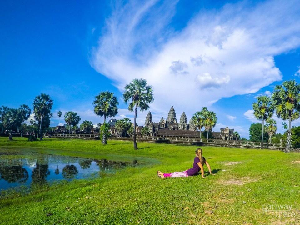 Amanda Plewes at Angkor Wat in Cambodia