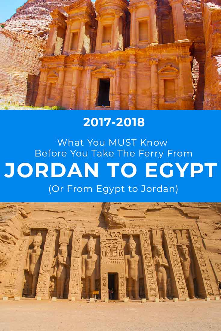 Taking the ferry from Jordan to Egypt