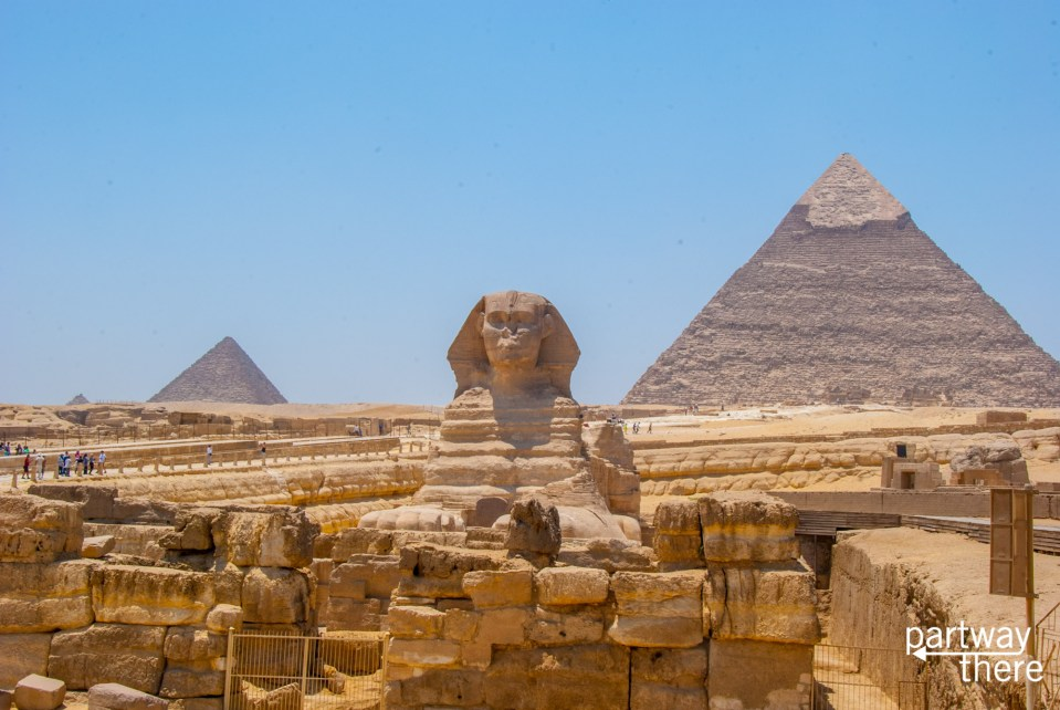 The pyramids in Cairo, Egypt