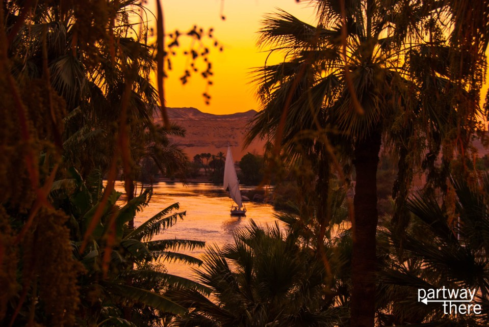 The view of the Nile from The Old Cataract Hotel