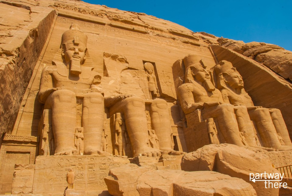 The main temple at Abu Simbel