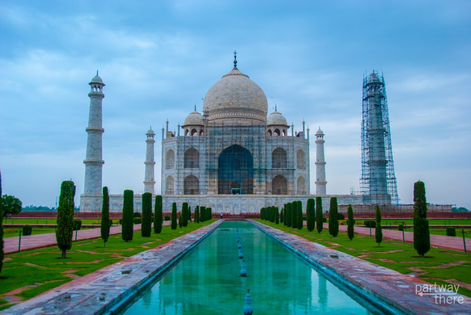 the Taj Mahal in 2017