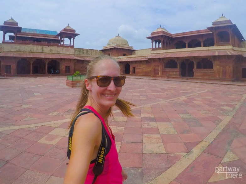 Amanda Plewes at the wives' residences in Fatehpur Sikri