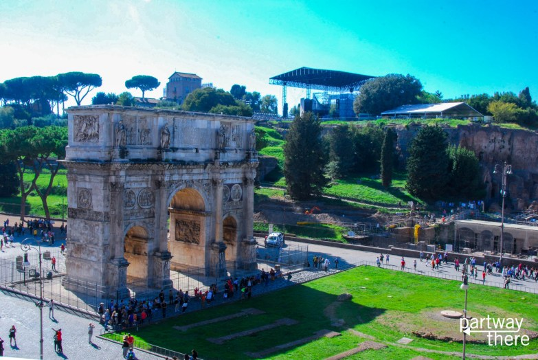 The Palatine Hill as seen from the Colosseum