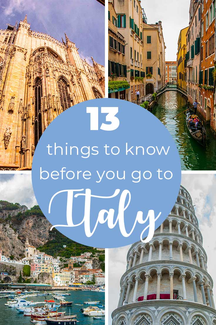 13 things to know before you go to Italy