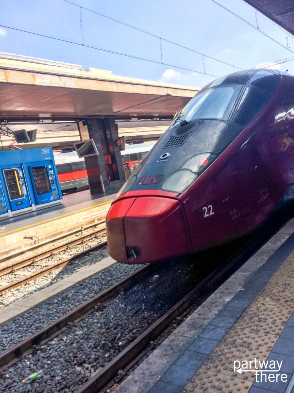 The Italo train in Italy