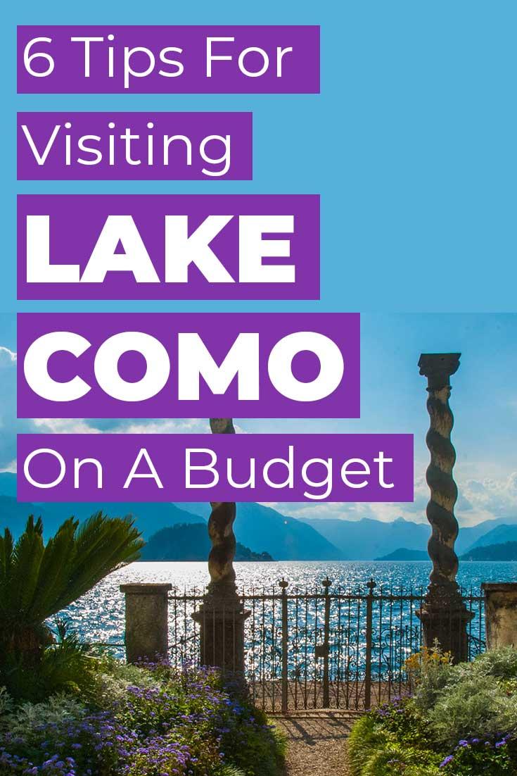 Six tips for visiting Lake Como on a budget
