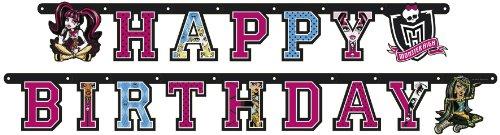 Party Kette Geburtstagskette Monster High Happy Birthday 180 Cm Party Deko Shop De