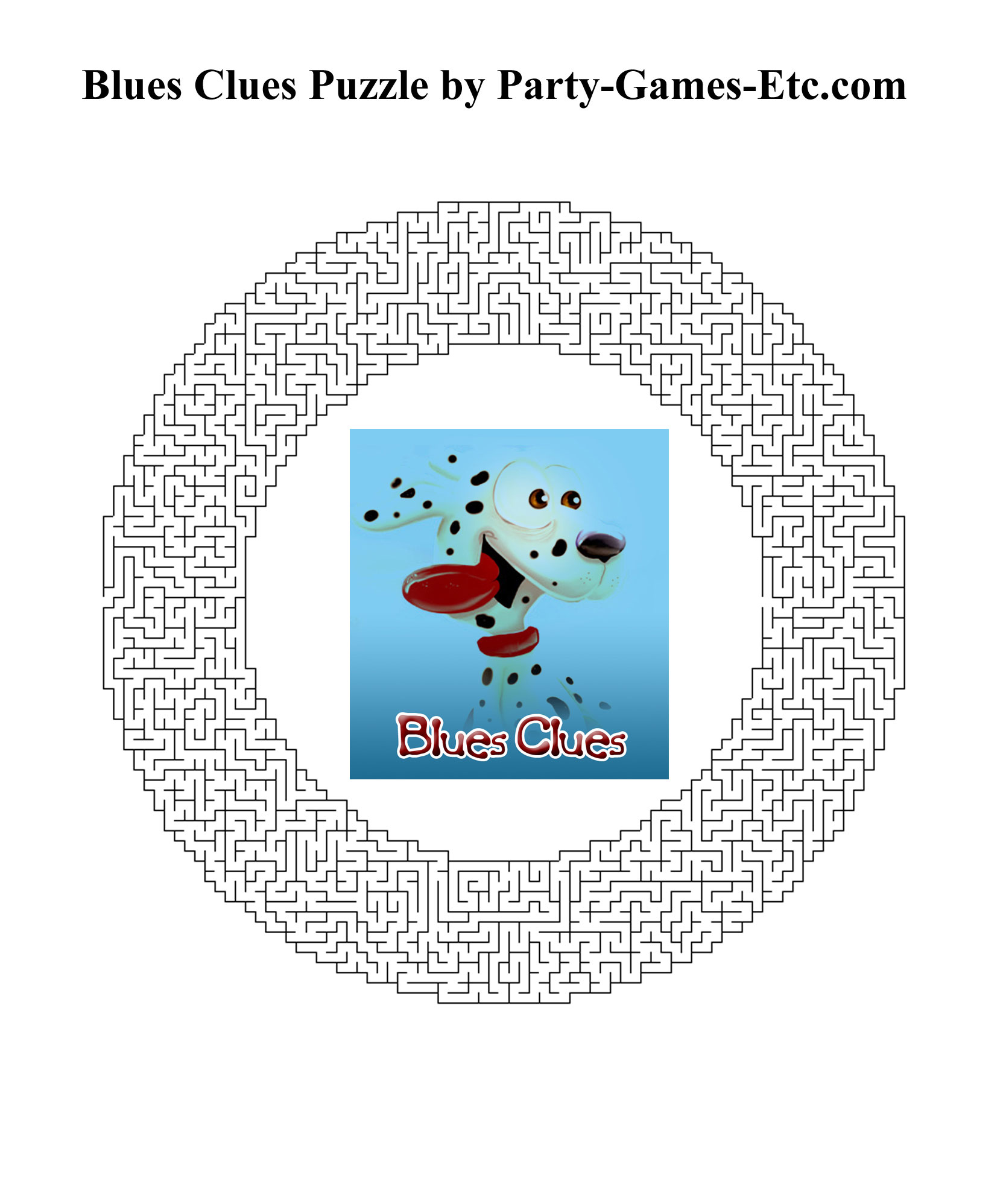 Blues Clues Party Games Free Printable Games And