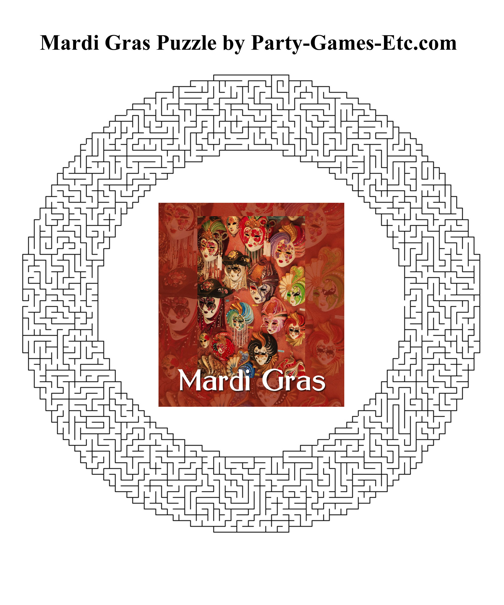 Mardi Gras Party Games Free Printable Games And