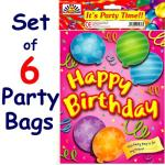 Girl Birthday Party Bags (Set of 6)
