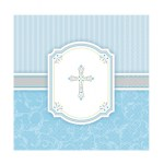 Boy First Holy Communion. Blue Luncheon Serviettes