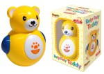 Roly Poly plastic teddy with squeeky tummy.