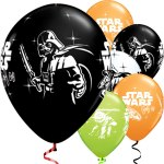 Star Wars Balloons featuring Darth Vadar and Yoda