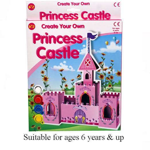 create your own princess castle partybag ie