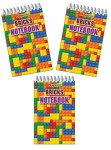 Lego themed bricks notebook