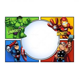 5 avengers invitation free low cost