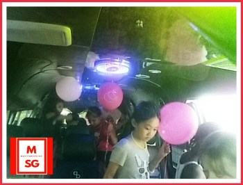 Book Party BUS for your kids birthday