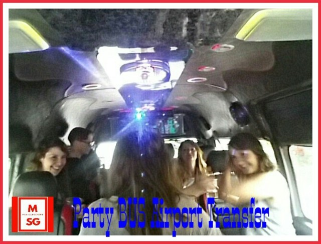 book party bus to airport
