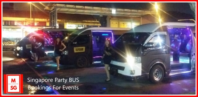 book party bus singapore for event shuttle