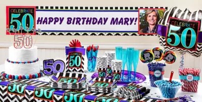 Celebrate 50th Birthday Party Supplies City