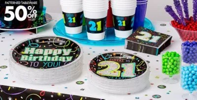 21 Birthday Decorations Party City