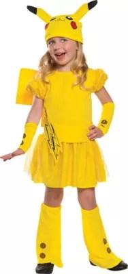 Little Girls Pikachu Costume Deluxe Pokemon